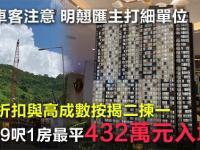 【定價揭盅】青衣新盤首批最平1房432萬
